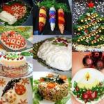 9 рецептов красивых салатов к новому году.