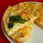 Быстрый пирог из лаваша и сыра.