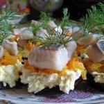 Порционная закуска с селёдочкой.