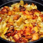 Жареная картошка.  Ингредиенты: