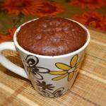 Простой рецепт кекса в микроволновке.