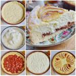 Воздушный творожный пирог с яблоками.