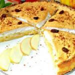 Очень вкусный, нежный яблочный пирог с безе.