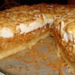 Яблочный пирог с суфле.