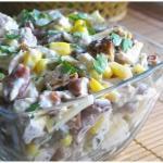 Топ - 6 салатов с куриным Филе: