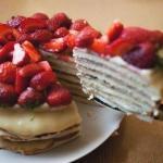 Торт творожный на сковороде.