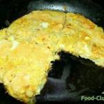 Картофельная закуска - омлет.