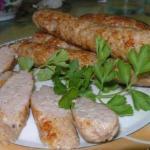 Домашние куриные колбаски.