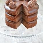 Шоколадный торт.  Очень простой рецепт!
