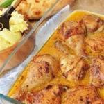 Острая курица в сливочном соусе.