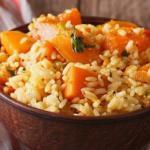 Каша из тыквы с рисом.