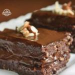 Шоколадно - ореховый торт.