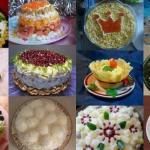 12 новогодних салатов.