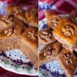 Медовая пахлава.   С богатой ореховой начинкой, сладкая, с медовым ароматом и, самое главное, очень мягкая внутри!