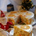 """Желейный торт """"Фруктовый Новый год""""."""