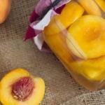 Персики в сиропе на зиму.