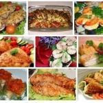 9 рецептов вкусных рыбных блюд.