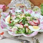 Весенний салат с фасолью.
