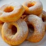 Воздушные пончики (на сгущеном молоке).