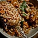 Гречка с мясом и грибами.