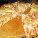 Пицца моментальная.  Вам потребуется: