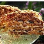 Торт белочка - самый простой рецепт.