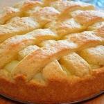 Яблочный пирог с заварным кремом?