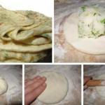 Дагестанское блюдо, а точнее сказать аварское представляет собой тонкую лепешку с начинкой.