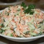 """Замечательный салат!  На всех праздниках уходит """"на ура""""!"""