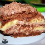 Шоколадно - банановые торт из пряников.