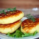 Картофельные зразы с печёночной начинкой.