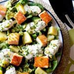 Новогодний салат с лососем.
