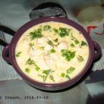 Сырный суп с курицей.