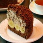 Простой десерт шоколадно - бананового десерта.