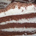 Пятиминутный шоколадный торт.