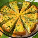Пирог с яйцами и зелёным луком.