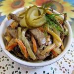 Салат из говяжьей печени.