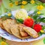 Кабачково - сырные оладьи.