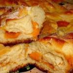 Быстрый пирог.  Дешевый и простой, но вкусный пирог, который совсем не приедается, достаточно только менять начинки.