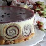 Вкусный тортик.  Ингредиенты (на форму диаметром 20 см:
