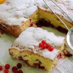 4 рецепта самых вкусных пирогов на кефире со смородиной.