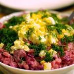 Шведский селедочный салат.