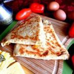Ёка, армянская закуска из лаваша.