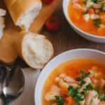Фасолевый суп.  Ингредиенты 400 гр.