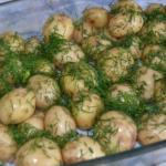 Молодая картошка в сметане - ингредиенты: