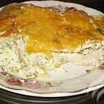 Картофельная запеканка с курицей.