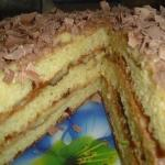 """Тортик """"Пышный"""" из творога."""