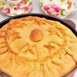 Зур бэлеш - татарский пирог с картофелем и мясом.