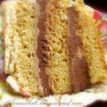 Высокий, нежный бисквит для торта (без духовки.