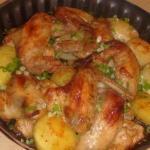 Крылышки с картошкой.